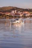 Boat Moored of the Coast of Ayvalik Royalty Free Stock Image