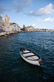 Boat moored off Ischia island Royalty Free Stock Photo