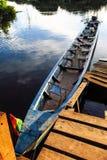 Boat moored in Rio Yacuma Stock Image