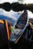 Boat moored in Rio Yacuma Stock Photography