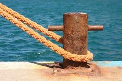 Boat mooring Royalty Free Stock Image