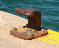 Boat mooring Stock Photo