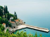 Boat mooring Arboretum Trsteno, near Dubrovnik in Croatia. Stock Photos