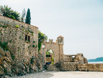 Boat mooring Arboretum Trsteno, near Dubrovnik in Croatia. Royalty Free Stock Photos
