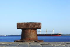 Boat Mooring. With background ship Royalty Free Stock Photos