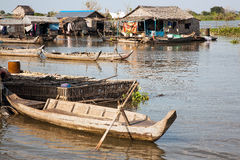 Boat mooring at home. Royalty Free Stock Photography