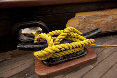 Boat mooring knot Royalty Free Stock Photos