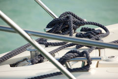 Boat mooring line Stock Photography