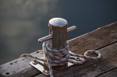 Boat mooring Royalty Free Stock Photos