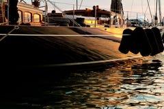Boat at moorings Royalty Free Stock Image