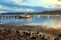 Free Boat Moorings In The Afternoon Sun Royalty Free Stock Photography - 39512687