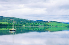 Boat in Moray Firth. Inverness, Scotland Stock Image