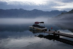 Boat and morning Stock Images