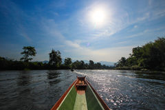 On the boat at Nam Song River,Vang Vieng,Laos Stock Image