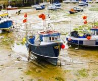 Boat Named Opportunity Stuck in the Mud. Folkestone, England - September 1st 2013 Stock Photo