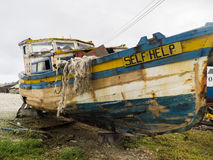 Boat Named Self Help Stock Photo