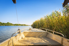 Boat On Namibia Side Of Chobe River Stock Photography