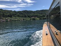 Boat. Nature View from the boat in San Guilio Royalty Free Stock Images