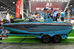 Boat Nautique Super Air GS in the exhibition Crocus Expo in Mosc Stock Photo