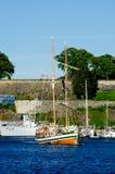 Boat near Akershus Fortress Oslo Norway Royalty Free Stock Image