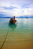 Boat near the beach Stock Photography