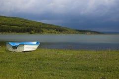 Boat near the lake royalty free stock image