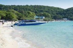 Boat near the shore. Royalty Free Stock Image