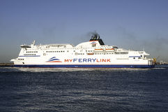 Boat of new company Myferrylink Royalty Free Stock Images