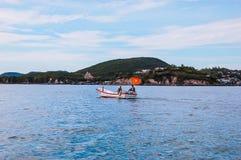Boat in Nha Trang Stock Photo