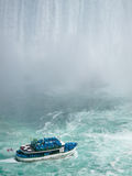 Boat in Niagara Falls. Floating in the mist Stock Photography