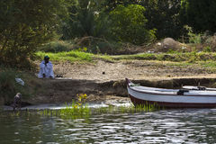 Boat on the Nile Stock Photography