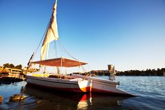 Boat in Nile. Boats on the Nile Royalty Free Stock Images