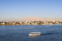 Boat on the Nile. At Luxor Royalty Free Stock Photo