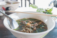 Boat Noodle , Moo nam tok Stock Photo