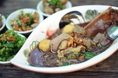 Boat noodles or kuai tiao ruea is a Thai style noodle Royalty Free Stock Photography