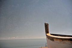 Boat nose at the sea Royalty Free Stock Photography