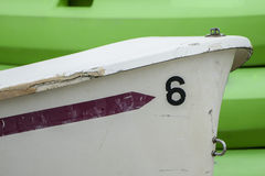 Boat number 6 Stock Photo