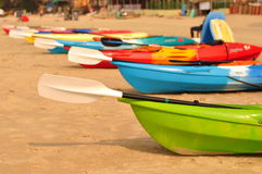 Boat nya beach. Rowing boat on the beach in India Stock Images