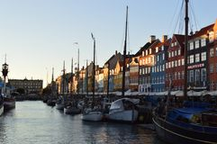 Boat in Nyhavn Canal Stock Photos