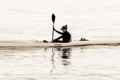 Boat, Oar, Kayak, Water Transportation Stock Images