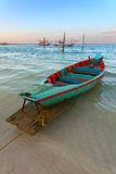 Boat with oars Royalty Free Stock Image