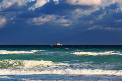 Boat in the ocean Royalty Free Stock Photo