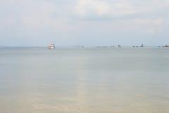 Boat on the Ocean Near Sihanoukville Autonomous Port, Cambodia Royalty Free Stock Photo