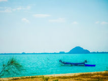 Boat in ocean. Sailling boat in thailand ocean Stock Images