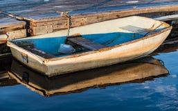 Boat on the oceanic coast Royalty Free Stock Image