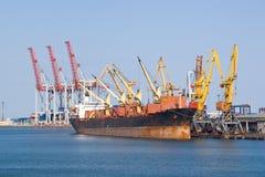Boat in Odessa port Stock Image