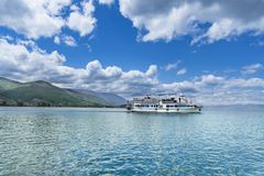 Boat on Ohrid lake in a beautiful summer day