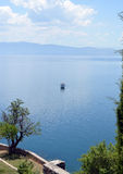 Boat in  Ohrid Lake Royalty Free Stock Photos