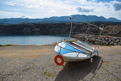 Boat. Old alone boat by the seaside Royalty Free Stock Photos