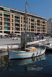 Boat in old Harbor of Marseilles Stock Image